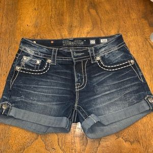 Miss me mid-rise shorts
